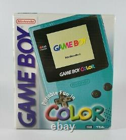 Nintendo Game Boy Color Console (Teal) Brand New in Sealed Box