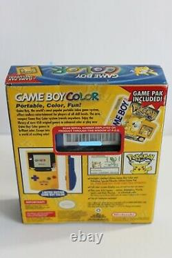 Nintendo Game Boy Color Pokemon Edition Handheld System BRAND NEW FACTORY SEALED