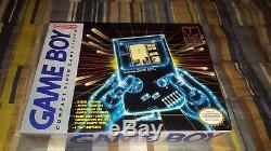 Nintendo Game Boy Launch Edition Gray Handheld System DMG-01 withTetris New Sealed