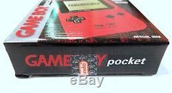 Nintendo Game Boy Pocket Red Handheld System Brand New Factory Sealed