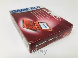 Nintendo Gameboy Advance GBA SP Red AGS 001 Console System Brand New Sealed