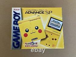 Nintendo Gameboy Advance SP Limited Edition Pikachu TOYS R US Exclusive Sealed