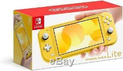 Nintendo SWITCH Lite Yellow 2019 Brand New Sealed 32gb FREE USPS PRIORITY SHIP