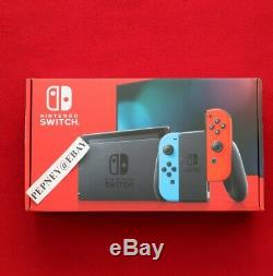 Nintendo Switch 32GB Console V2 with Neon Red/Neon Blue Joy-Con Brand NEW Sealed