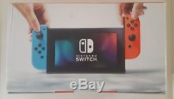 Nintendo Switch 32GB Gray Gaming Console with Red/Neon Blue Joy-Con New Sealed