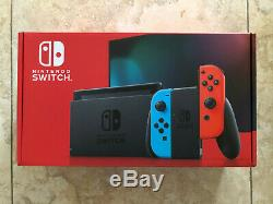 Nintendo Switch Console With Neon Red and Blue Joy Con New Sealed (Newest Model)