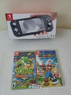 Nintendo Switch Lite Gray Brand New with 2 Sealed Games Bundle
