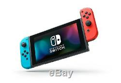 Nintendo Switch Neon Red & Neon Blue Joy-Con Console BRAND NEW & FACTORY SEALED