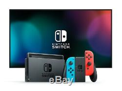 Nintendo Switch with Neon Blue and Red Joy-Con 32GB (New 2020 V2) Factory Sealed
