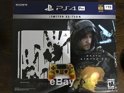 PS4 Pro 1TB Limited Edition Death Stranding Video Game Bundle, Brand New Sealed