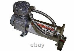 Pewter 400 Air Compressor For Air Bag Suspension System 150 On 180 Off & Relay