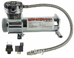 Pewter 400 Air Compressor For Air Bag Suspension System 90 On 120 Off & Relay