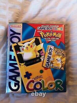 Pikachu Gameboy Color Console (Nintendo 1999) SEALED AUTHENTIC