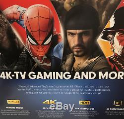 PlayStation 4 Pro 1TB Console Jet Black Brand New Factory Sealed Region Free