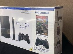 Playstation 2 Black Console New In Box Holiday Bundle Sealed With Game
