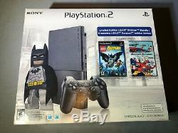 Playstation 2 PS2 Slim Game System Brand New Sealed Lego Batman Bundle