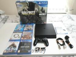 Playstation 4 Slim 1tb Console Bundle Including 6 Games 5 New & Sealed