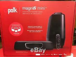 Polk MagniFi Mini Home Theater Soundbar System Black (AM9114-A) NEW SEALED