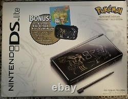 RARE Nintendo DS lite Special Edition Pokemon Black Console BundleFactory Seal
