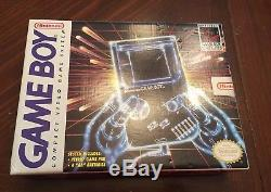 RARE Original B&W Nintendo Game Boy Console NEW SEALED MINT CONDITION Tetris