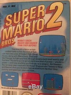 RARE Super Mario Bros. 2 NES new and sealed Nintendo Entertainment System CIB