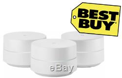 SEALED Google Wifi AC1200 Dual-Band Mesh Wi-Fi System (3-Pack) Routers White