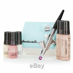 SEALED NIBLuminess Air AquaWhite Legend Airbrush System with5-Piece Silk 4-IN-1