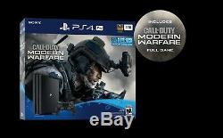 SEALED PlayStation 4 Pro 1TB Call of Duty Modern Warfare Console Bundle PS4