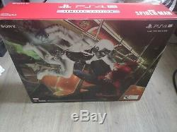 Sealed Spider-Man Playstation Ps4 Pro 1TB Limited Edition Console