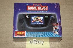 Sega Game Gear Console Bundle withSonic 2 NEW SEALED, EARLY PURPLE BOX RELEASE