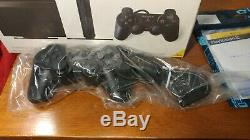 Slim Sony Playstation 2 PS2 Black Console New Open Box + Sealed PS2 Games Lot