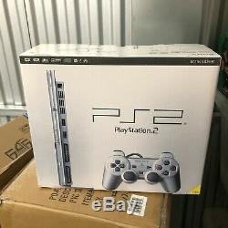 Slimline Slim Sony Ps2 Satin Silver Playstation 2 Pstwo Console New & Sealed
