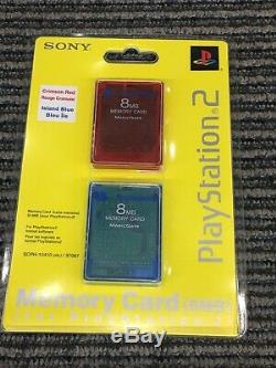Sony PS2 Playstation 2 Silver Slim Console Controller Memory Card Factory Sealed