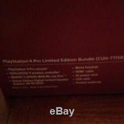 Sony PS4 Pro 1TB Limited Edition Spider-Man Console Bundle (New Sealed)