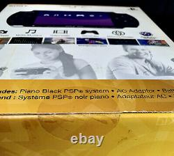 Sony PSP-3000 Launch Edition 64MB Piano Black Handheld System STILL SEALED NEW