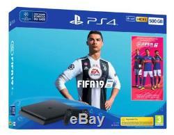 Sony PlayStation 4 500GB Fifa 19 Jet Black Console New Sealed