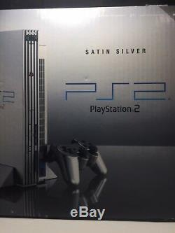 Sony Ps2 Satin Silver Playstation 2 Console New & Sealed