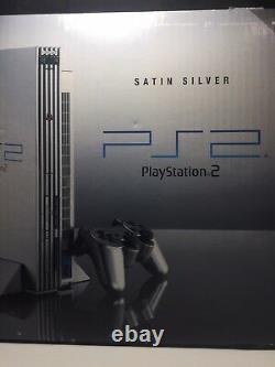 Sony Ps2 Satin Silver Playstation 2 Fat Console New & Sealed