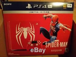 Spiderman PS4 Pro 1 TB Console Limited Edition Sealed