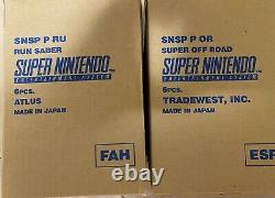 Super Nintendo Entertainment System PAL Combined Run Sabre Super Off Road Sealed