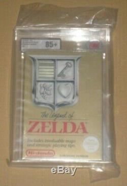 The Legend of Zelda NES Nintendo Entertainment System Sealed UKG VGA Graded 85