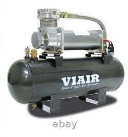 Viair 20008 Super Duty 12v 200PSI Air System with 480C Pewter Compressor