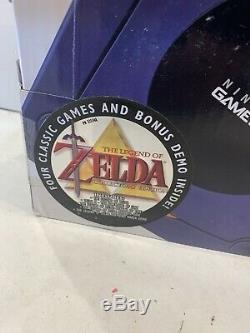 WOW RARE SEALED Nintendo GameCube Console Indigo PURPLE Zelda Collectors Edition