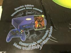 Xbox Halo 2 Special Edition blue Console VGA ready! Mint New Sealed! Microsoft
