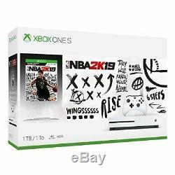 Xbox One S 1 TB NBA 2K19 Game Bundle Console 1TB 2K 19 Microsoft Brand New Seal