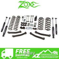 Zone Offroad 4 Lift Kit Suspension System fits 2003-2006 Jeep Wrangler TJ J11N